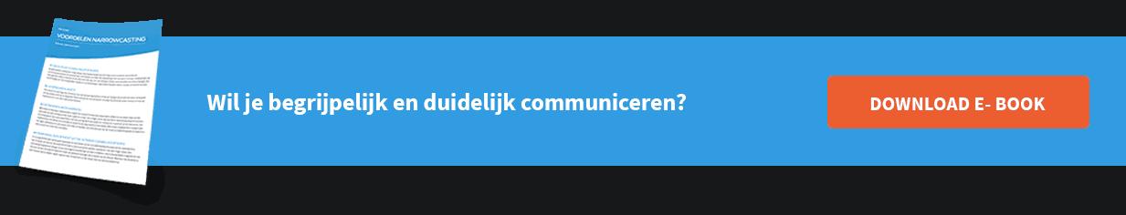 Wil je begrijpelijk en duidelijk communiceren?