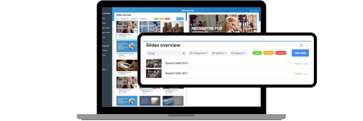 Content filteren en zoeken MediaMyne 4.0